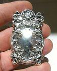 Antique Ornate Repousse Sterling Silver Vesta Match Safe