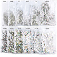 1440pcs Nail Art Crystal Rhinestones Glitter Diamond Gems 3D Tips DIY Decor  RPR