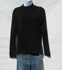 "100% Cashmere Knit Sweater Ladies ""Mock Neck"" Himalayan Black Size: XL  "