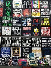 Personalized  t-shirt, w/ your custom text  printed  many colors shirts, 100%