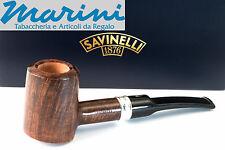 Pipa Pipe pfeife Savinelli Trevi 310 ks Tronchetto dritta scura lucida made ital
