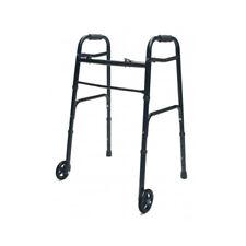 "Lumex ColorSelect Adult Walker w/ 5"" Wheels - Blac Folding Walker with"