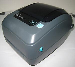 USED Zebra GX430T Monochrome Desktop Direct Thermal Transfer Label Printer 887