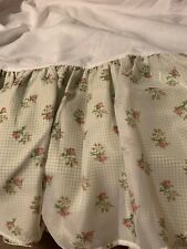 Waverly Romance Roses And Gingham Bedskirt Queen