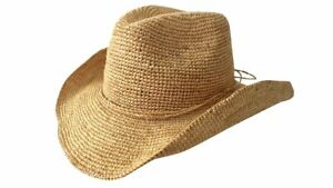Jacaru 1844 Raffia Western Hat Natural