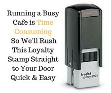 Loyalty/ Reward Card Coffee Self Inking Stamp Rosetta Cafe Owners Mobile Cafe