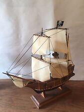Antique Golden Hind Handmade Wooden Model Ship