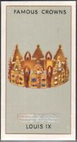 The Crown Of Saint Louis IX of France c80 Y/O Ad Trade Card