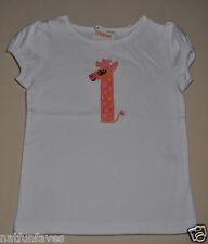 Gymboree girl # 1 giraffe birthday tee shirt top 18-24 month NWT white