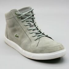 Lacoste Men's 9.5 (44) Sport High Top Lace Up Ankle Sneakers Gray