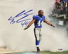 AHMAD BRADSHAW Signed Inscribed 8x10 NY Giants #44 Stunning Photo! PSA/DNA COA
