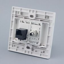 Wall Plate 2 Ports CAT6 RJ45 Network LAN & TV Outlet Connector Panel Faceplate