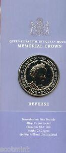 UK 2002 Brilliant Uncirculated £5 Coin Queen Mother Memorial