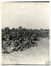 """British Army 2nd Leicesters in a Field Flanders 1915 World War 1 5x4"""" Photo bl"""
