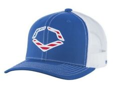 EvoShield Men's Snapback Trucker Hat Cap Royal/White/Red USA Logo OSFM (Royal)