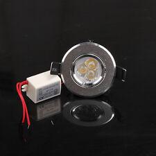 Mini 3W Warm White LED Cabinet Recessed Ceiling Spot Down Light Bulb AC 85V~265V