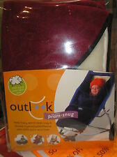 New Red Outlook 2 Piece Pram Snug Sleeping bag Lambswool Pram Liner Warm Winter