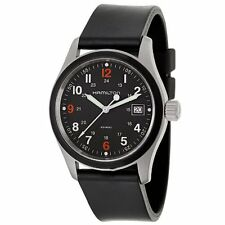 BRAND NEW Hamilton Men's H68421333 Khaki Field Black Dial Watch SWISS MADE