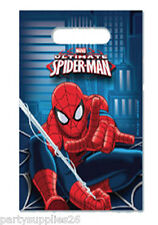 SPIDERMAN PARTY SUPPLIES LOOT BAGS LOLLY BAGS FAVOUR BAGS PACK OF 8