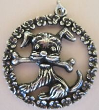Cutest Ever - Dog With Bone Pendant Charms Necklace Keychain - NEW