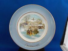 Avon 1977 Carolers In The Snow Fifth Edition Plate Enoch Wedgwood England