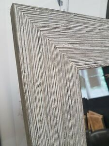 Handmade Decorative Bevelled Mirror Brushed Green Made In Cumbria