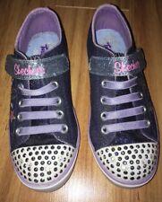 Skechers Twinkle Toes Youth Girls US Size 12 Denim Blue Stars