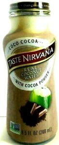 Taste Nirvana Real Coconut Water with Cocoa Power 9.5 oz ( Pack of 6 )