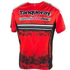 TANQUERAY Bike Cycling Jersey Half Zip Red California Aids Ride XL Gay Lesbian