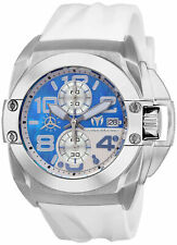 TechnoMarine Men's Reef TM-518008 45mm Blue MOP Dial Silicone Watch