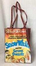 Walt Disney Snow White Seven Dwarfs Vinyl Tote Bag Purse Vintage Movie Poster
