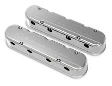 """Holley 241-176 2-PC """"Chevrolet"""" Script Polished LS Chevy Valve Covers LSX"""