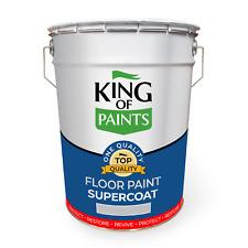 Light Grey Concrete &Patio Paint Durable King of Paints 20 Litre Cans
