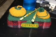 VINTAGE FOLK ART CURLING Rock Toque Hat Broom Sewn Knitted Collectible Trophy