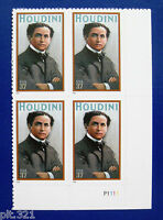 Sc # 3651 ~ Plate # Block ~ 37 cent Harry Houdini Issue (bl23)