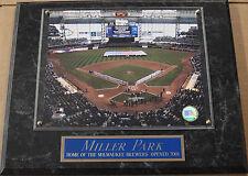 MILLER PARK MILWAUKEE BREWERS FRAMED 8 X 10 PHOTO WALL PLAQUE-SIGN-MAN CAVE ART