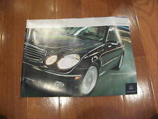 2004 Mercedes Benz Full Line E500 S500 CLK500 SL500 AMG CL500 G55 sales brochure