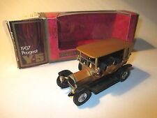 Peugeot Limousine saloon (1907) in kupfer copper met, Matchbox MoY Y-5 boxed!