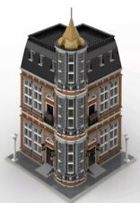 LEGO Modular Building Custom City Corner MOC INSTRUCTIONS AND PARTS LIST ONLY