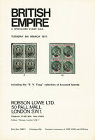British Empire,Robson Lowe Ltd., #Sale 3480-3481, March 9, 1971, Auction Catalog