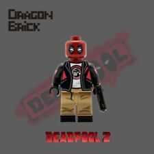 **NEW** DRAGON BRICK Custom Deadpool 2 Lego Minifigure
