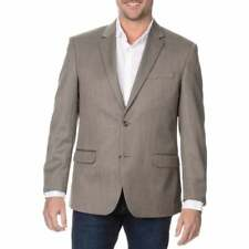NEW Prontomoda Elite Men's 50L Tan Rich Wool Blazer Jacket Double Vents 2 button