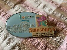 Raro Juegos Olímpicos de Londres 2012 Pin Insignia Sainsburys patrocinador Juegos Paraolímpicos Horizonte