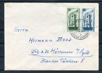 Bedarfsbrief BRD Mi.-Nr. 241+242 mit Erstagsstempel nach Hörnum - b4406