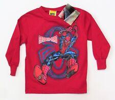 2T Red Spider-Man LS Shirt NWT