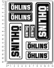 Ohlins fork shock stickers decals graphics kawasaki ducati aprilia Laminated