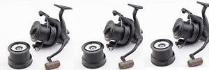 3 x Wychwood Riot 65S Big Pit Carp Reels Black Model  Set of 3 Reels