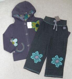BNWT NEXT BABY GIRLS HOODY JACKET & JOGGERS 18-24 MTHS TOP COAT PANTS BLUE DRESS