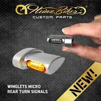 HeinzBikes Winglets MICRO Blinker Harley-Davidson Fender hinten Chrom seidenmatt