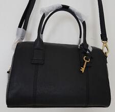 FOSSIL Damen Tasche Umhängetasche Handtasche Bowling Bag Schwarz Leder NEU